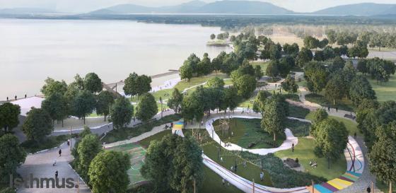 Lakefront playground design
