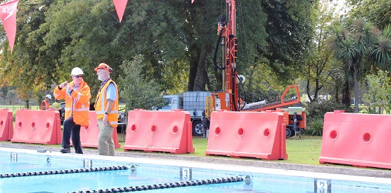 Geotechnical testing at Rotorua Aquatic Centre