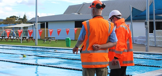 Work taking place at the Rotorua Aquatic Centre