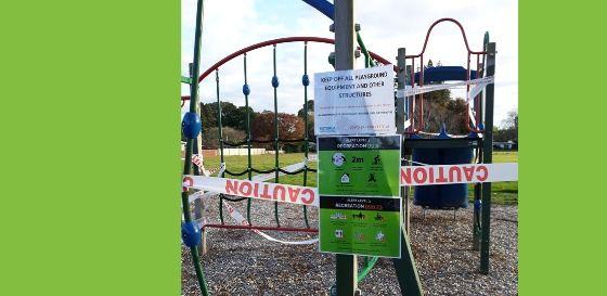 Taped off playground