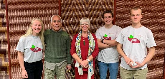 Rotorua Mayor with the team from Kai Rotorua