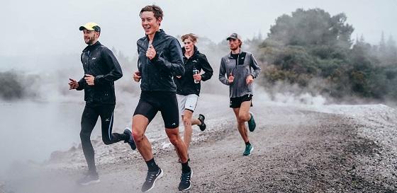 Athletics NZ training camp runners at Puarenga Parkrun