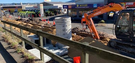 Stormwater work - Te Ngae Road