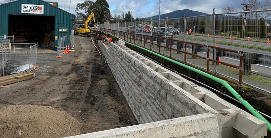 Carters retaining wall