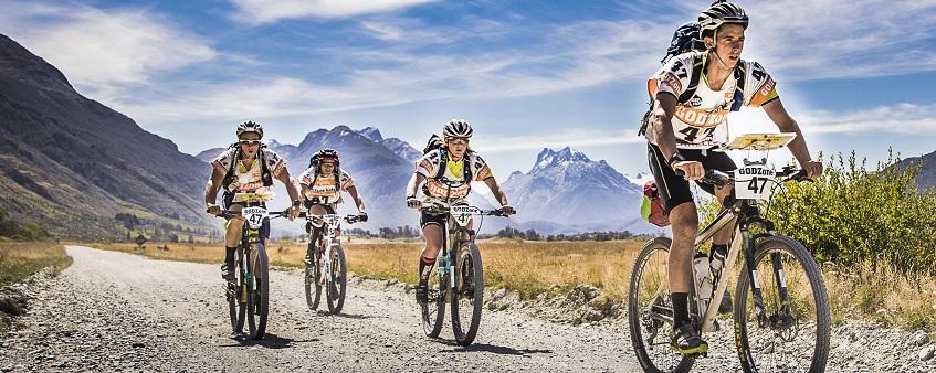 GODZone team cycling near Glenorchy - Chapter 6