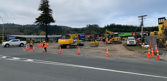 Tarawera roundabout work
