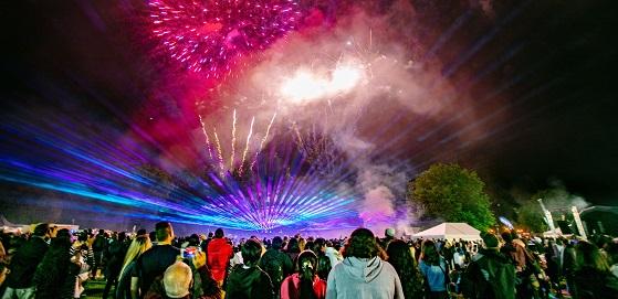 Glo Festival fireworks