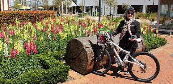 Julie Parsons bike enthusiast