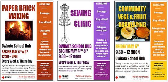 Owhata school hub flyers