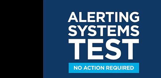 Alert systems test
