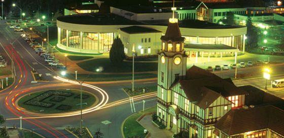 Rotorua at night