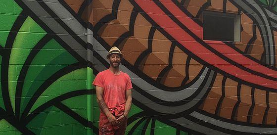 Jeremy Shirley's mural on Pukuatua Street
