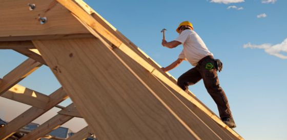 Builder on roof