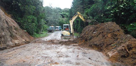 Okareka Road slip