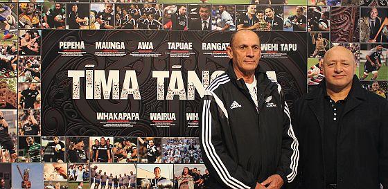 Former Maori All Blacks coach Matt Te Pou and player Hika Reid