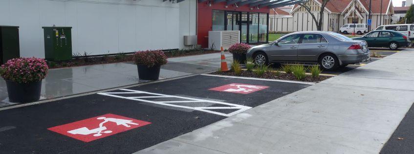 New parking configuration on Haupapa Street